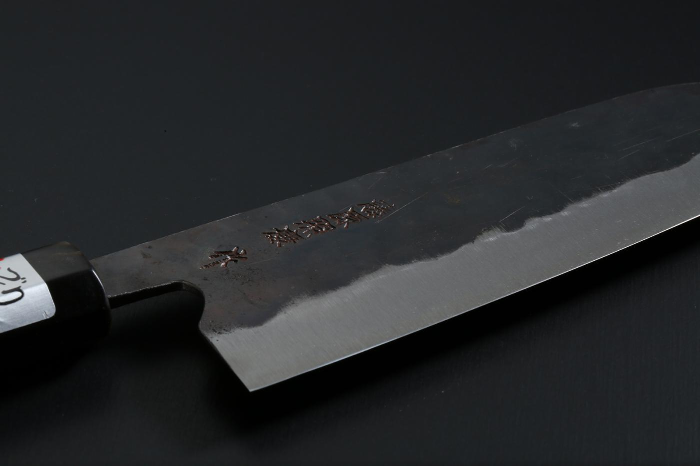 Santoku knife [Denka] + Octagonal handle with buffalo horn ferrule