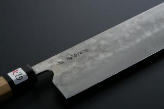 Nakiri knife [Maboroshi] + Octagonal handle with buffalo horn ferrule