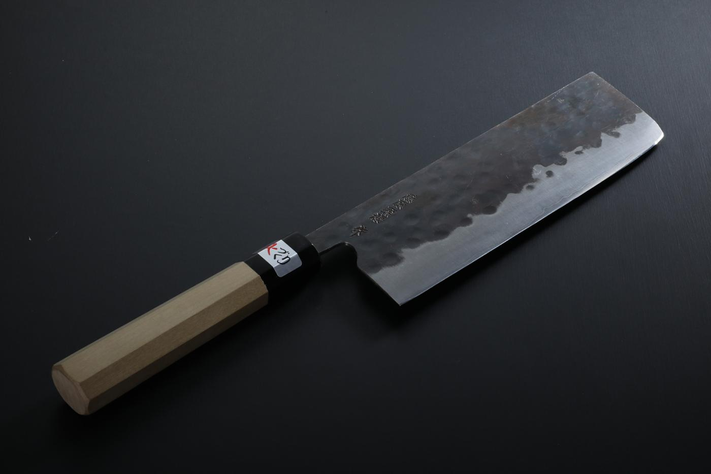 Nakiri knife [Denka] + Octagonal handle with buffalo horn ferrule