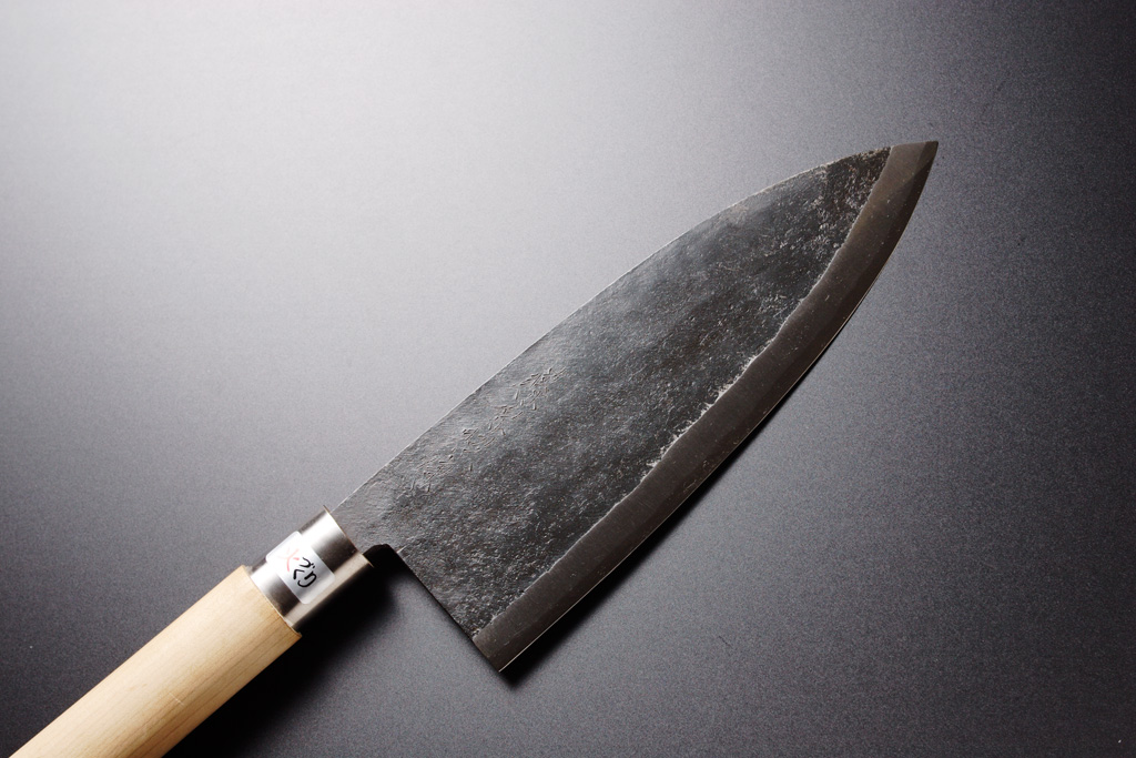 Salmon Cutting Knife Kurouchi Japanese Deba Knife
