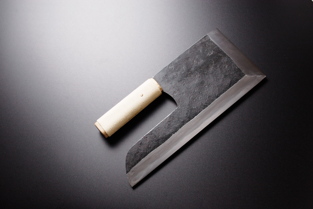 Noodle cutting knife [Kurouchi Single edge]